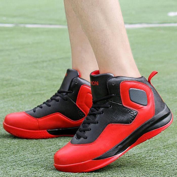 Chaussures de Basket Homme Grande pointure Taille 47 Nouveau Chaussure de sport - ROUGE