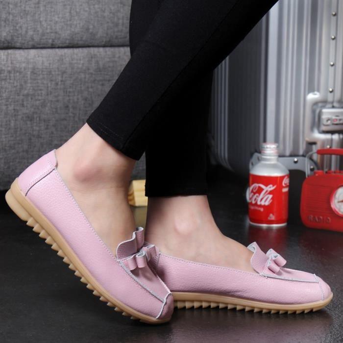 Enfiler Plates Couleurs Mre 5 Chaussures En Cuir Femme Vritable Flats Femmes Mocassins fzwzqZ
