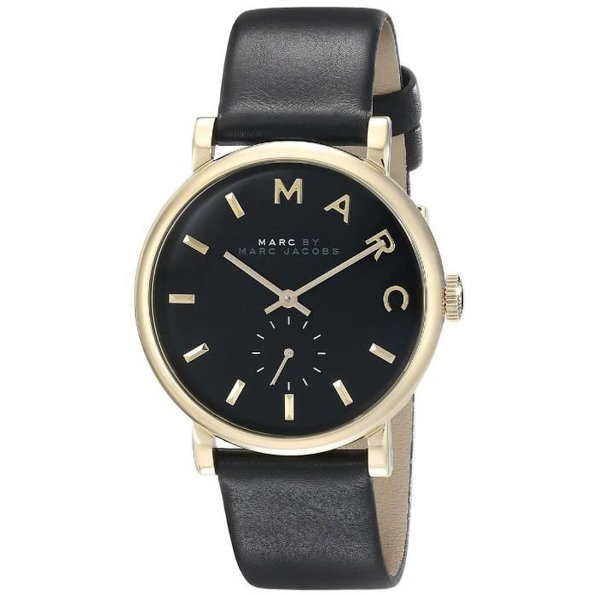 Noir By Femme Cuir Quartz Montre Marc Jacobs 36mm Bracelet E9WIDH2Y