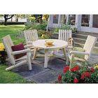 Salon de jardin bois Montréal - table + fauteuils - Achat ...