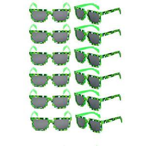 b769229039 LUNETTES DE SOLEIL Pixel Uv 12pcs 8 bits Protect Gamer Geek Lunettes