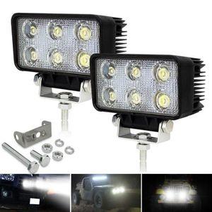 PHARES - OPTIQUES 2x 18w phares de travail à LED longue portée Lampe