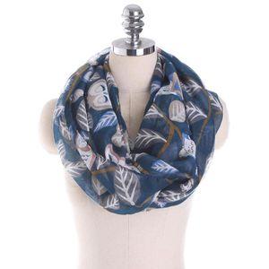 4ba289f1498d Femmes Femmes Hibou Feuilles Motif Foulard imprimé Châle chaud de Voile  Wrap CXQ1097