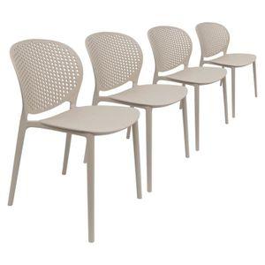 FAUTEUIL JARDIN  Lot 4 Chaises de Jardin Design Moderne