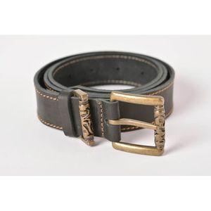 Ceinture homme cuir noir design original boucle en métal accessoire ... dc8c5e3287e