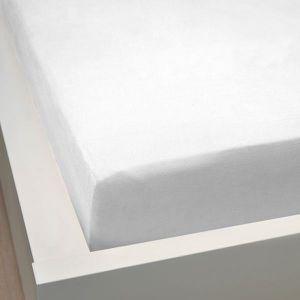 DRAP HOUSSE Drap housse 140x190 cm 100% percale couleur BLANC