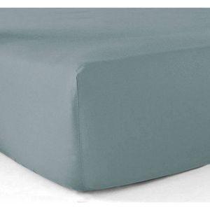 DRAP HOUSSE Drap-housse 180x200 - 100% coton 57 fils - Gris