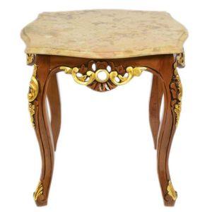 TABLE D'APPOINT Table d'appoint Casa Padrino baroque acajou avec m