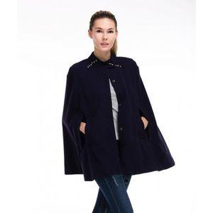 Automne et hiver Femmes Lady manches Cape en laine Manteau
