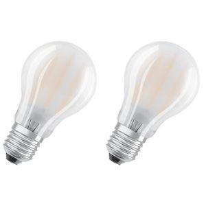 AMPOULE - LED OSRAM Lot de 2 Ampoules LED E27 standard dépolie 8