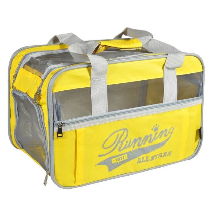 VADIGRAN Sac de transport Running - 40x28x25cm - Jaune - Pour chien