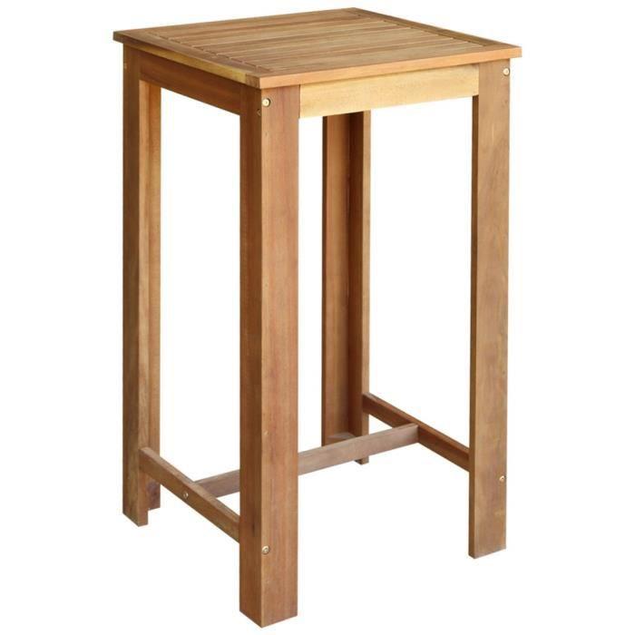 Magnifique Table Et Tabourets De Bar 3 Pieces Bois Dacacia Massif