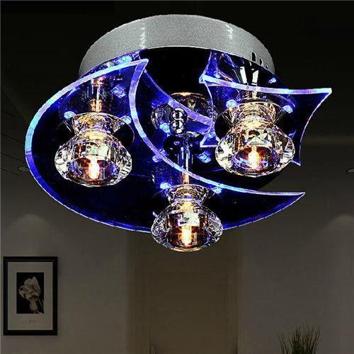Gimify Etoile Lune Plafonnier Lampe Cristal Led Lampe De Plafond