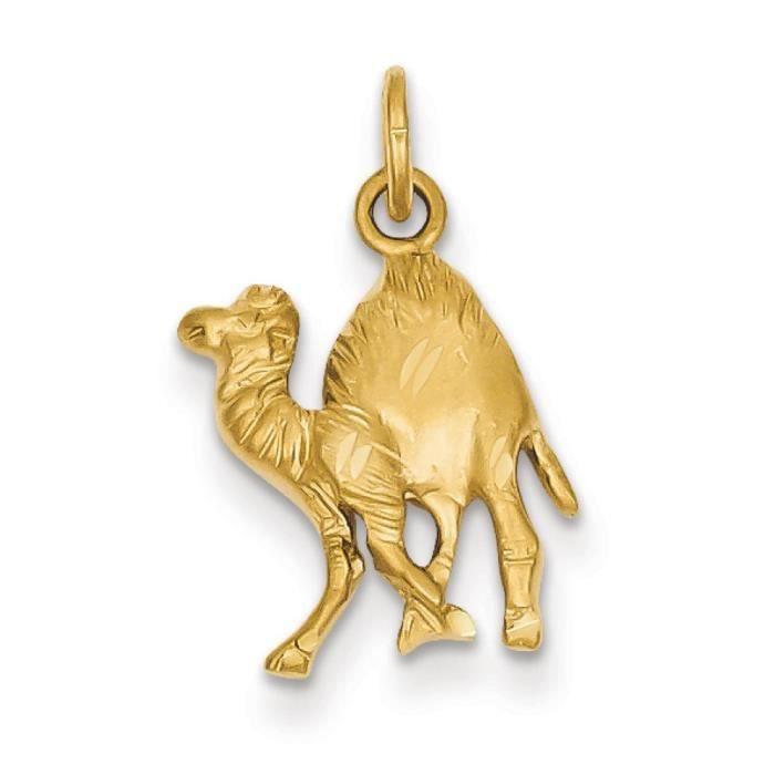 14 carats-Camel-Dimensions:21,5 x 34,5 mm)
