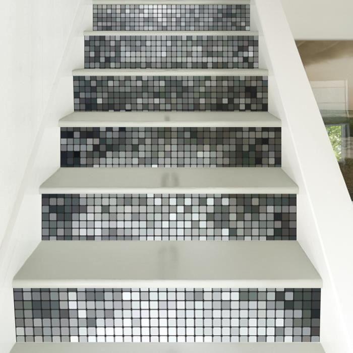 6 Pcs/ensemble 3D Escalier Autocollants pour La Maison Décoration ...
