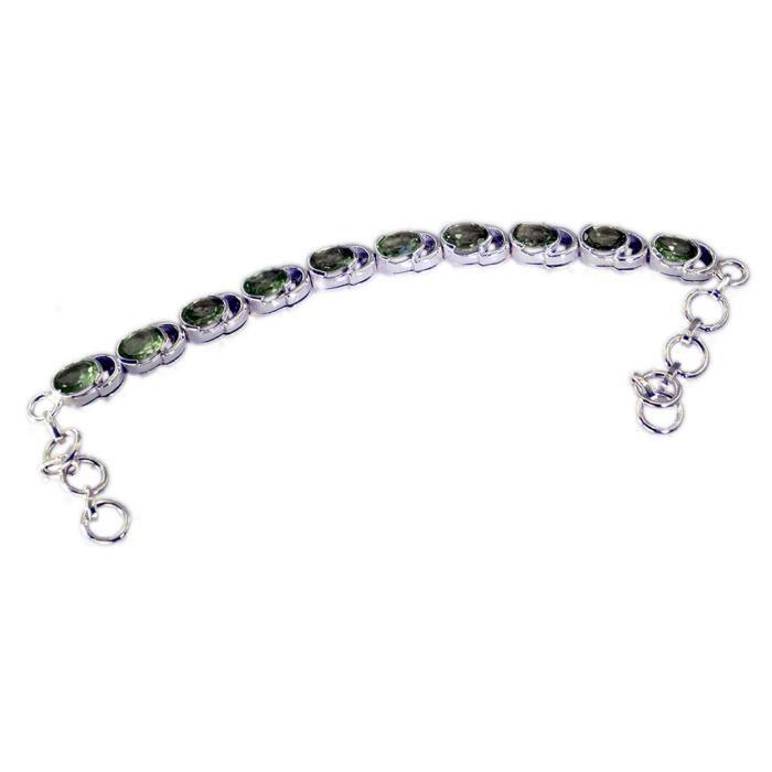 Peridot Bracelet - Bracelet Argent - Bracelet vert - Vert Bracelet Argent