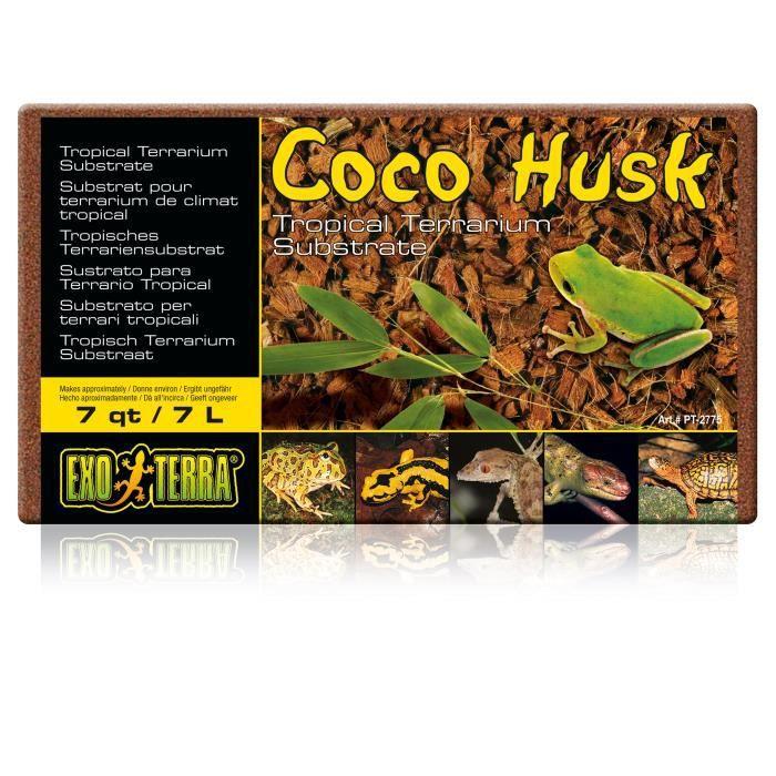 Exo Terra Coque De Noix Coco, 500 G - Pour Reptile Ou Amphibien