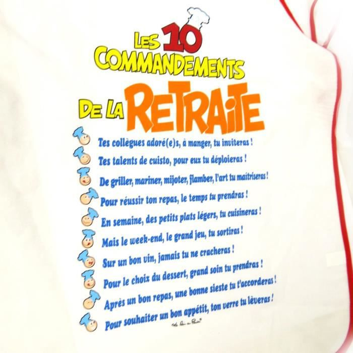 Tablier humoristique les 10 commandements de l achat vente tablier de cuisine soldes - Les tables des 10 commandements ...