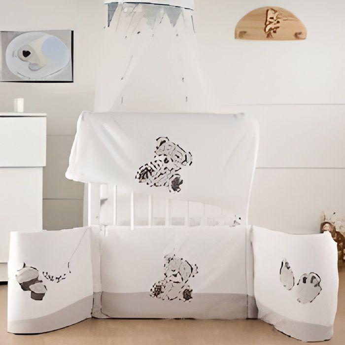 Les kinousses tour de lit miam le g teau gris achat vente tour de lit - Cdiscount berceau bebe ...