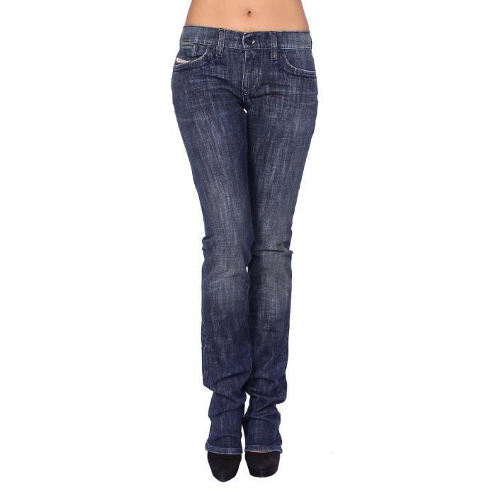 d5dbaeb0ba52 DIESEL - Jean Femme LIV 8CT - Slim Straight - Stretch Bleu - Achat ...