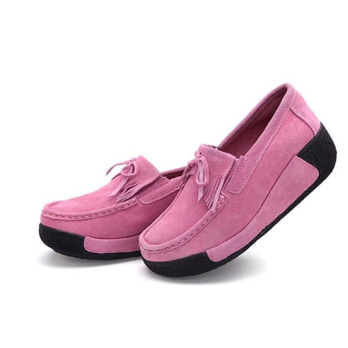 Pure Color Round Chaussures Toe plate forme f m...