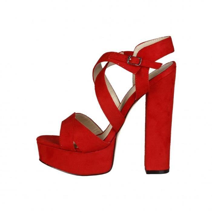 Sandale - Nu-Pieds - V 1969 - Sandales pour Femme rouge V 1969