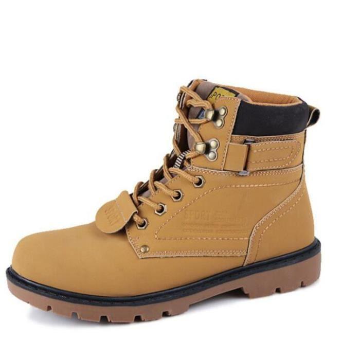 8134c1b159b15 Bottine homme Marque De Luxe Chaussures personnalité Beau Bottines hommes  Chaud Hiver Chaussures décontractées Grande Taille