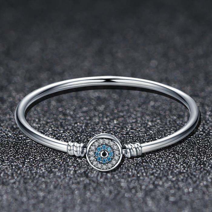 WOSTU 100% authentique S925 Bracelet Collections Guardians Eye femmes élégant brillant Bracelet exquis avec Clair Zircone SCB012