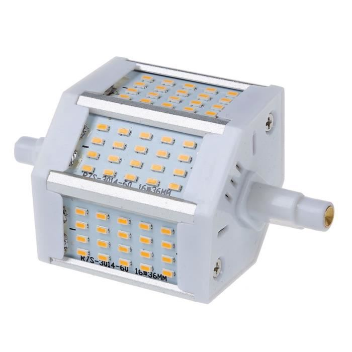 Smd Led 6w R7s Ampoule 600lm 60 Comme Dimmable De Lampe A 78mm Halogene Inondation Indique 0m8Nnw