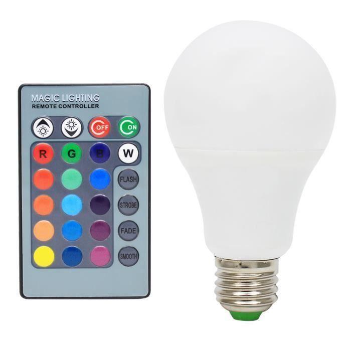 Avec Ampoules Télécommande 265vyw8299 6x Ac85 A Décoration Infrarouge Changement Led 16 Multicolore Rgb 5w De E27 Couleur 4f1gAc1