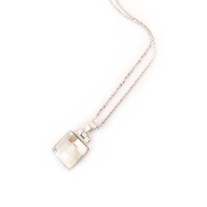 Collier Argent Sissi blanc