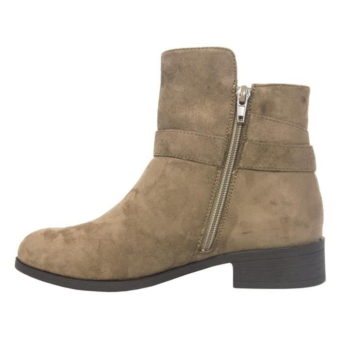 Betani Ingénieur Boucle Accent Chunky Stacked talon bas Bottines B9PA0 Taille-41