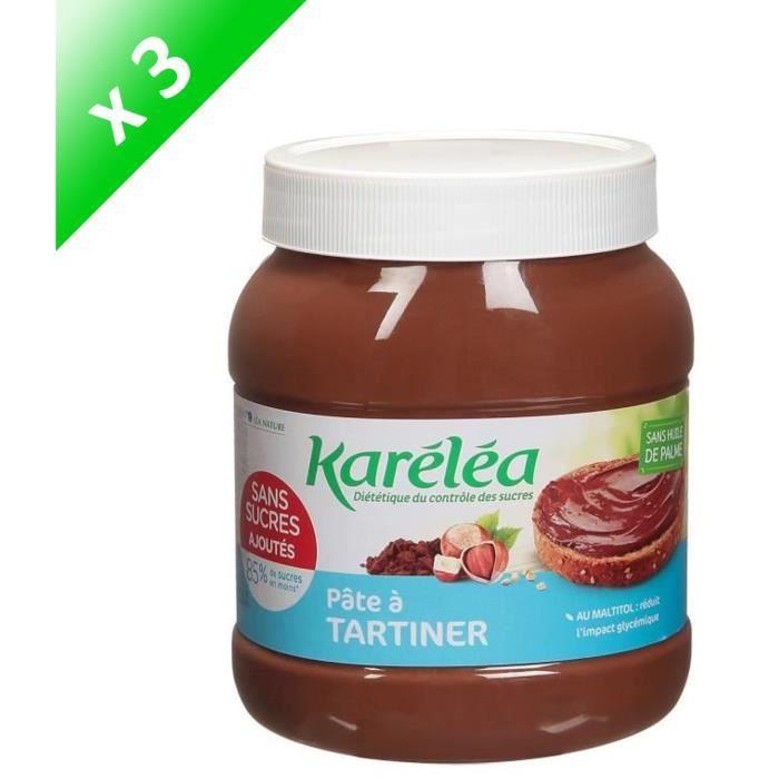 LEA NATURE Karéléa Pâte à Tartiner Noisette Cacao - 750 g x3