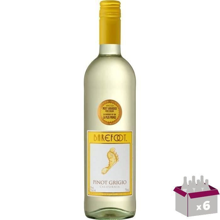 Vin de Californie BAREFOOT PINOT GRIGIO - Blanc - 75 cl x6VIN BLANC