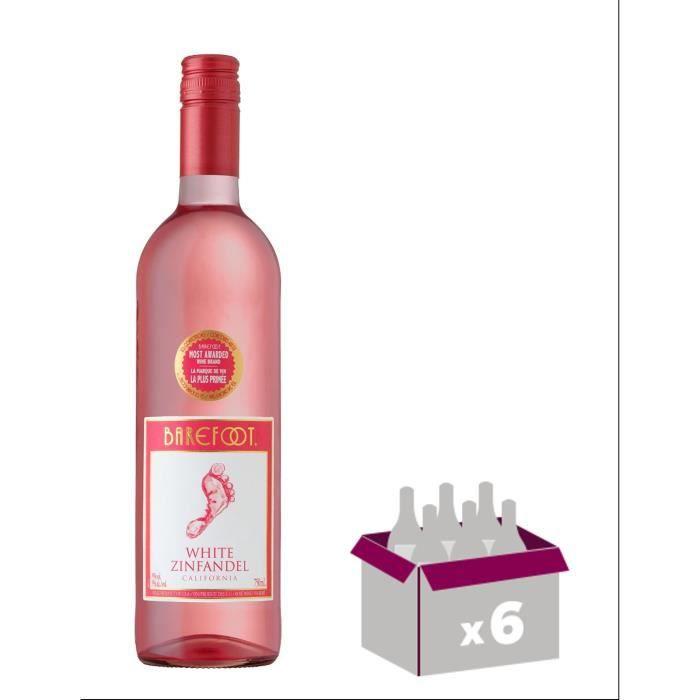 Vin de Californie BAREFOOT ZINFANDEL - Rosé - 75 cl x6VIN ROSE