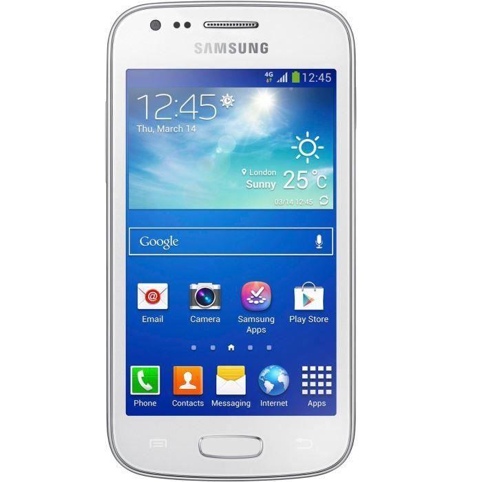 samsung galaxy ace 3 blanc achat smartphone pas cher avis et meilleur prix cdiscount. Black Bedroom Furniture Sets. Home Design Ideas