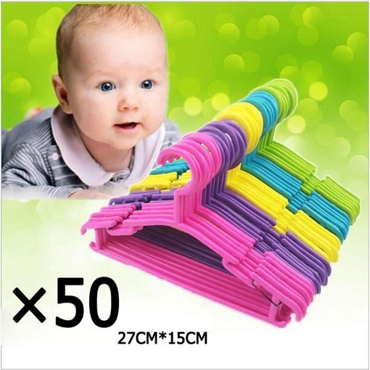 CINTRE CPROPRO 27x15 cm Lot de 50 cintres pour bébé enfan