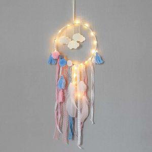 LAMPE DE JARDIN  LED Dream Catcher Cloud plume Dreamcatcher fille c