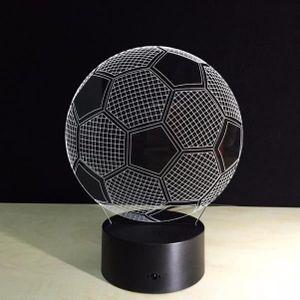 LAMPE A POSER Illusion optique 3D football Lampe lumière Décorat