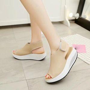 SANDALE - NU-PIEDS Mode Femmes Chaussures Secouer Sandales d'été épai