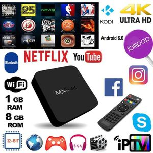BOX MULTIMEDIA (20 pcs)Décodeur multimédia Smart TV Box MXQ 4K, O
