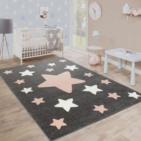 chambre-enfant-tapis-etoiles-gris-80x150