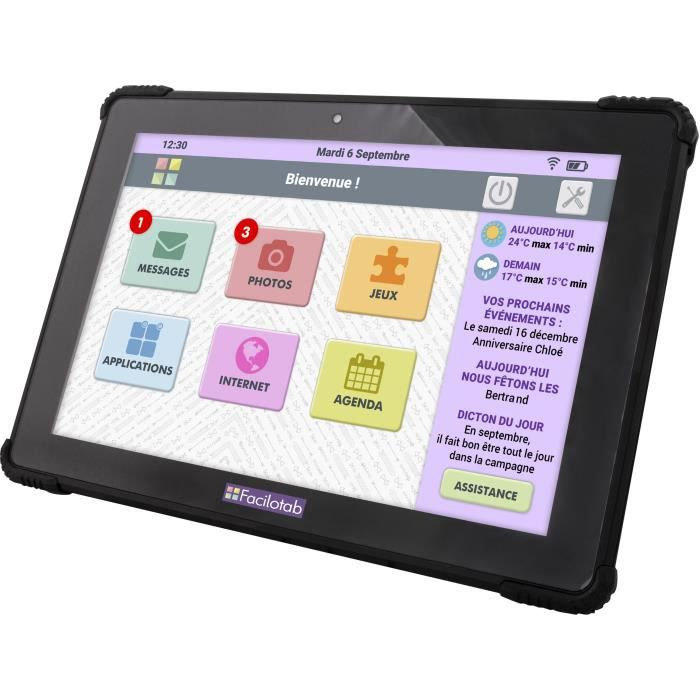 FACILOTAB Tablette tactile L Onyx - 10,1\
