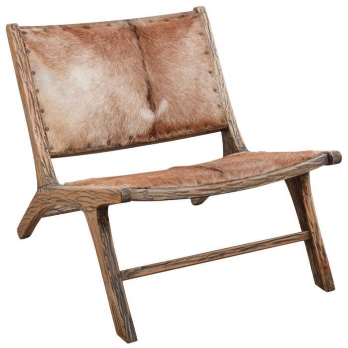 fauteuil en bois et peau de ch vre achat vente. Black Bedroom Furniture Sets. Home Design Ideas