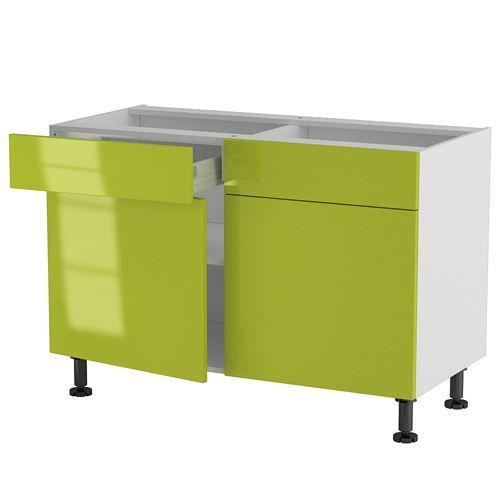 elements bas meuble cuisine bas 120cm 2 tiroirsportes 6070