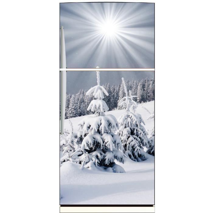 Sticker frigo déco cuisine Montagne enneigée Dimensions - Achat ...