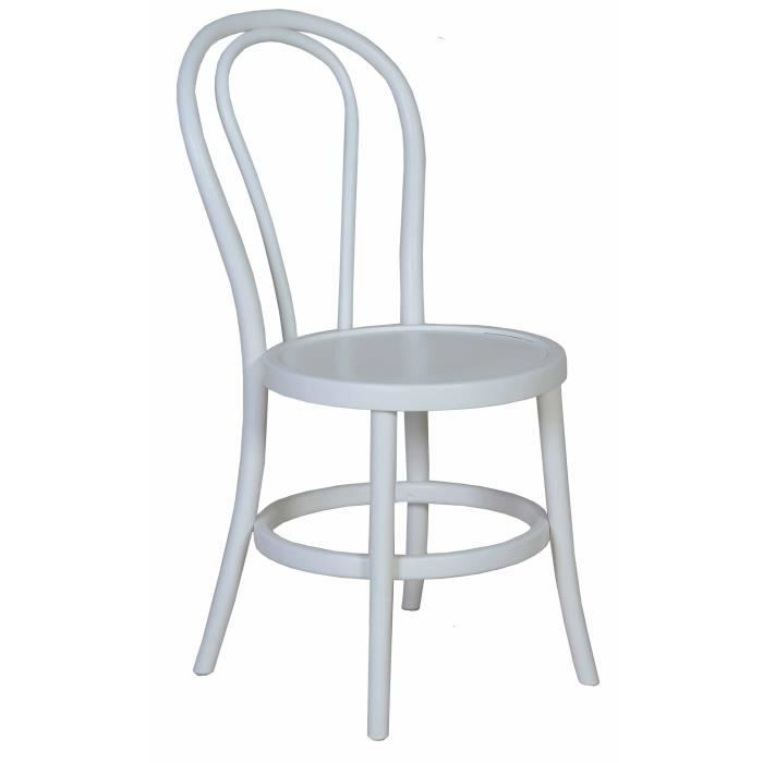 Chaise Bistrot Hetre Blanche