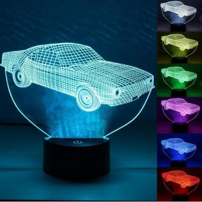 Illusion 3d Voiture Led Lumières Acrylique Modèle Veilleuse Plaque 1TFJclK