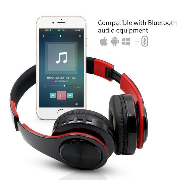 Casque Bluetooth Stéréo Sans Fil, Casque