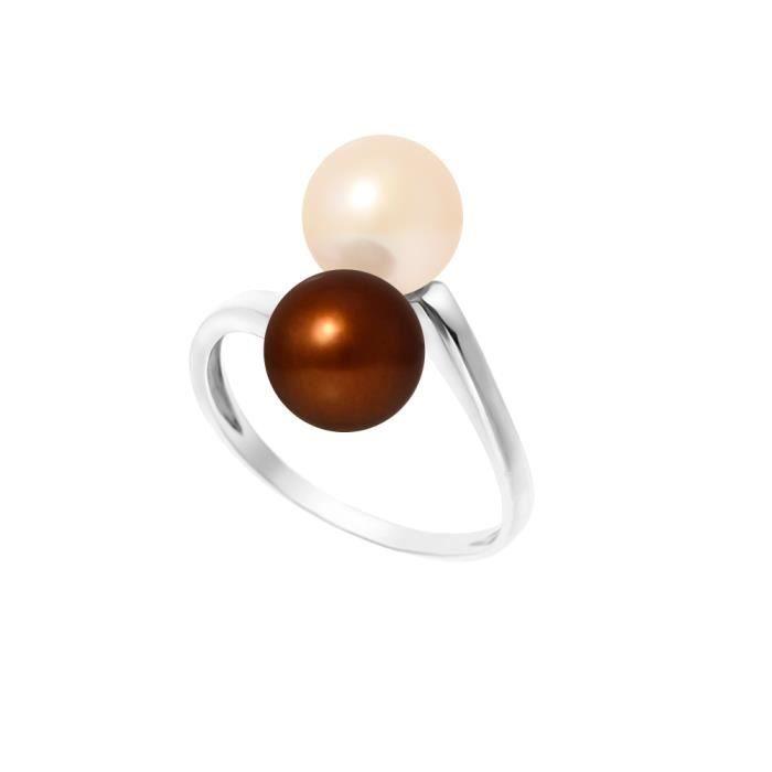 PERLINEA Bague Perles de Culture et Argent 925° Femme